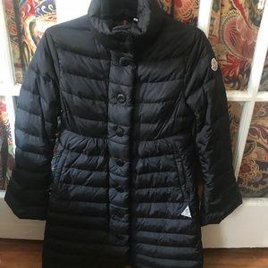 Black MONCLER Down Coat Size 1